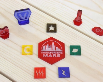 Tokens and markers set for Terraforming Mars board game