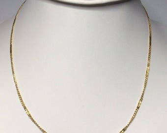 "Estate 22K Yellow Gold Chain Necklace 8.1 Grams 18"" Inches Long"