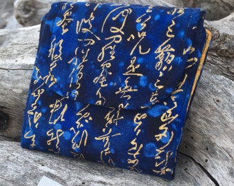 FREE SHIPPING to CANADA! Mini Slim line wallet, women's wallet, bifold wallet, cotton wallet, handmade wallet,beaver wallet,Asian motif