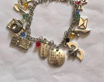 Pretty Little Liars charm bracelet, pretty little liars gifts, pretty little liars bracelet, pretty little liars jewellery, PLL gifts