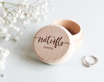 Custom Wood Ring Box, Personalised Wooden Ring Box, Rustic Wood Ring Box, Wood Ring Bearer Box, Custom Ring Box, Proposal Box, Wood Ring Box
