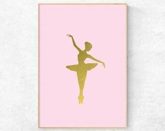 Ballerina, Nursery wall art, Girls nursery decor, Nursery ballerina, Ballerina wall art, Ballerina art print, Ballerina dancer, Girls art