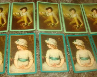 Lot of 10 Individual Playing Cards (5 Girl, 5 Boy)