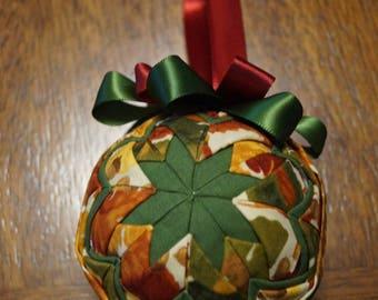 Multicolored leaves handmade Christmas ornament