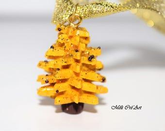 Christmas tree ornament decoration golden stars