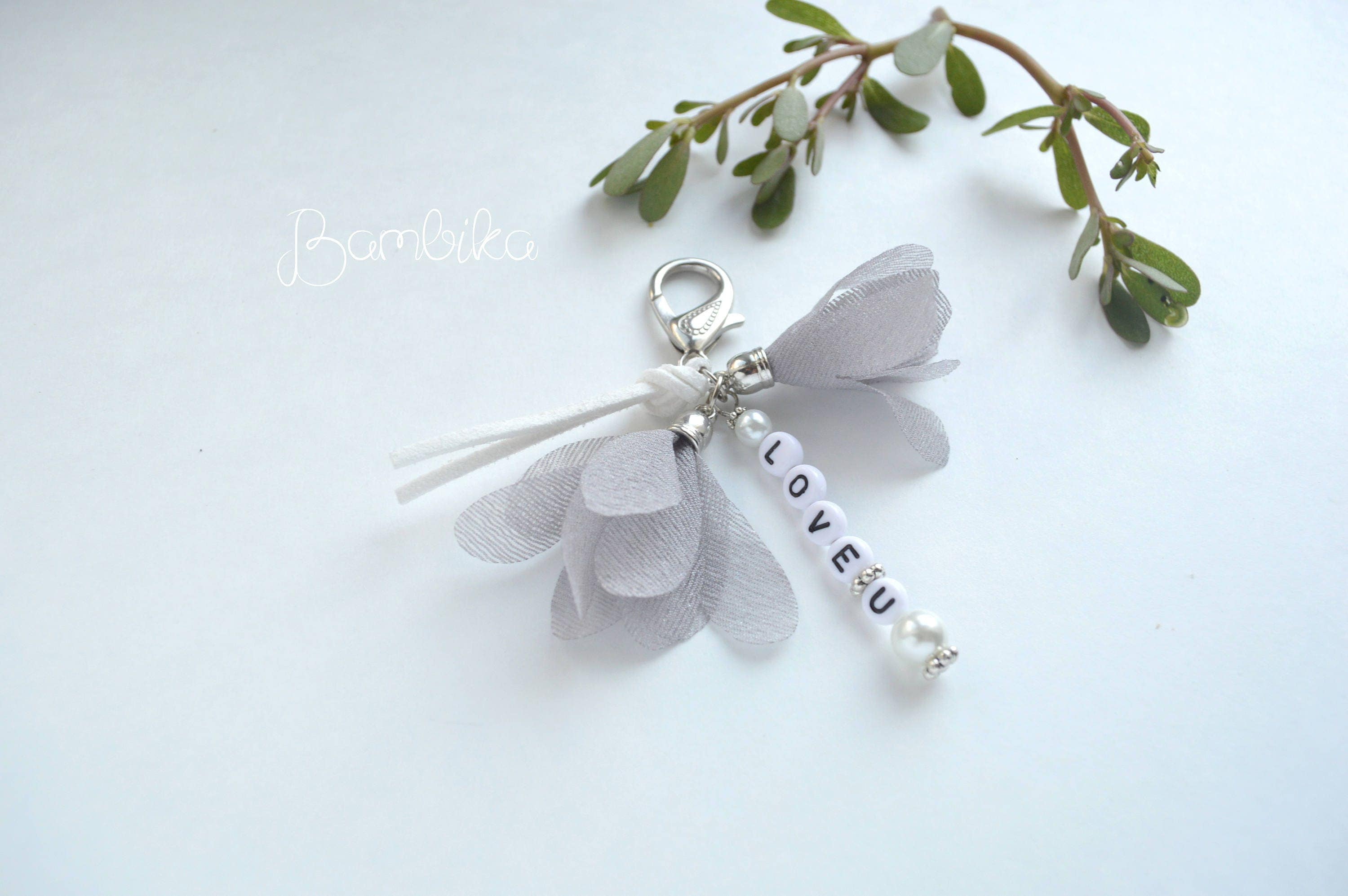 Personalized Keychain With Letters Love Key Chain Gift Best Friend