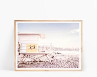 Beach Photo, Lifeguard Hut Print, Beach Print, Coastal Print, Summer Decor, Beach Printable Art, Coastal Wall Art, Ocean Art Print