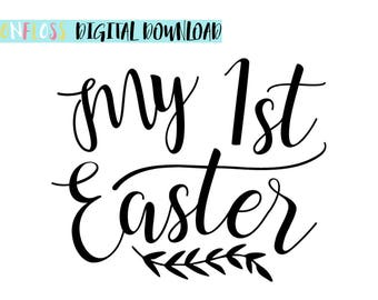 My First Easter SVG, Baby's First Easter, Baby Easter Outfit, Easter SVG, Easter Cutting File, Easter Cricut File, Easter Babygro, SVG File