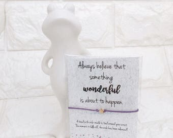 Star Wish bracelet, Encouragement Card, Make a Wish Bracelet, Cute Party Favors, Gift Card, Inspirational Gift, Best Friend Forever Gift
