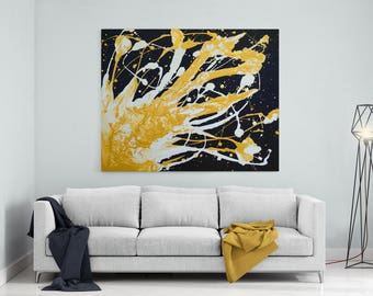 Champagne Painting | Black And Gold Painting Woman Painting | Gold Painting | Black And Gold Wall Art