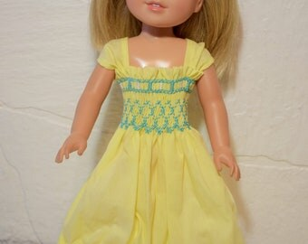 Smocked Dress for American Girl Wellie Wisher dolls