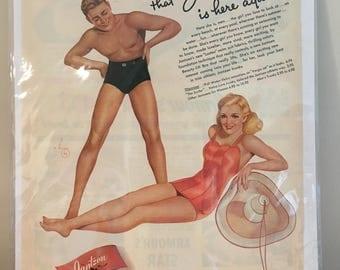 Vintage Jantzen Swimsuit Ad