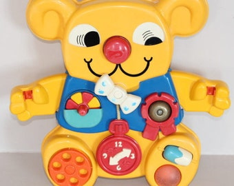 Activity Center, early learning board, early learning bear, vintage toy, birth gift; gift baby shower, musical toy, bed toy, vintage baby