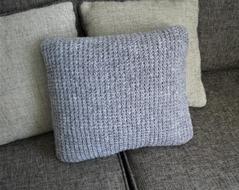 Knit cushion knit pillow oatmeal pillow decorative pillow hand knit cushion