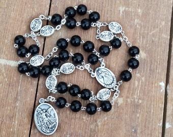 St michael chaplet, rosario de san miguel, saint michael archangel, st michael medal, patron of military, crown of st michael, prayer beads