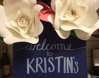Handmade signs with flowers
