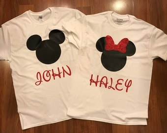 Disney Shirts with Customizable names
