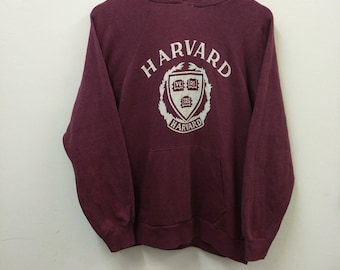 "Vintage 80's HARVARD Champion//Sweatshirt Hoodie//Size M""//Made In USA//Raglan"