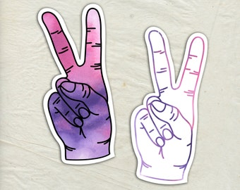 Peace Sign Decal - Peace Sign Vinyl Sticker - Watercolor Peace Decal - Car Window Decal - Laptop Sticker - Tumbler Decal