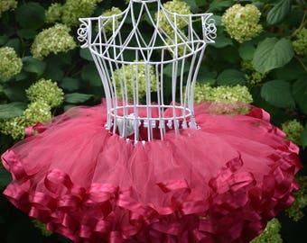 Wine flower girl dress burgundy, wine dress, wine wedding tulle skirt baby, toddler girl dress burgundy flower girl dress baby dress, TW-WN