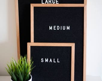 12x18 inch MEDIUM Perfectly Imperfect Letter Board - Oak Frame Felt Boards with Slight Imperfections at a HUGE discount! INCLUDES letters!