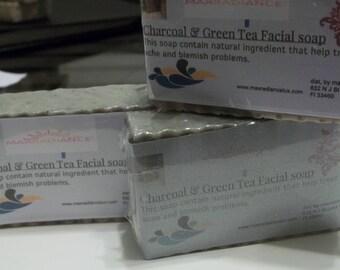 Charcoal & Green Tea Facial Soap