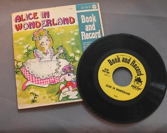 "Read Along Book and Record ""Alice In Wonderland""  45 rpm"