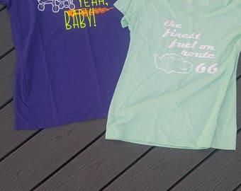 Disney Pixar Cars Flo and Ramone Couples Shirt Package
