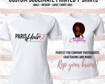 Custom Sublimate Printed Logo T-Shirts - Sublimate Tshirts, White t-shirt, logo t-shirt, custom shirts