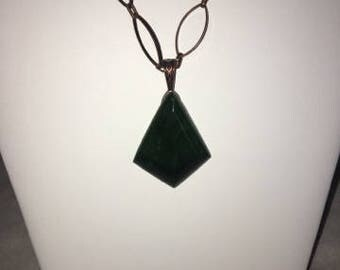 Jade Cabochon Stone Necklace