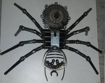 Large Recycled Metal Spider