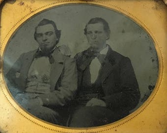 1800's | Ambrotype Photograph | Two Men