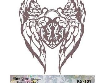 Stencil Masking, KS 101,  19x24 cm,mask stencils, fabric stencil.