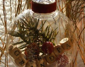Christmas Ornament, Handmade Ornament, Unique Gift Idea, Holiday Ornament, Ornament Exchange Gift, Tree Ornament, Holiday Decor, Grandpa
