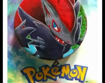 pokemon zoroark hand painted GX token/counter