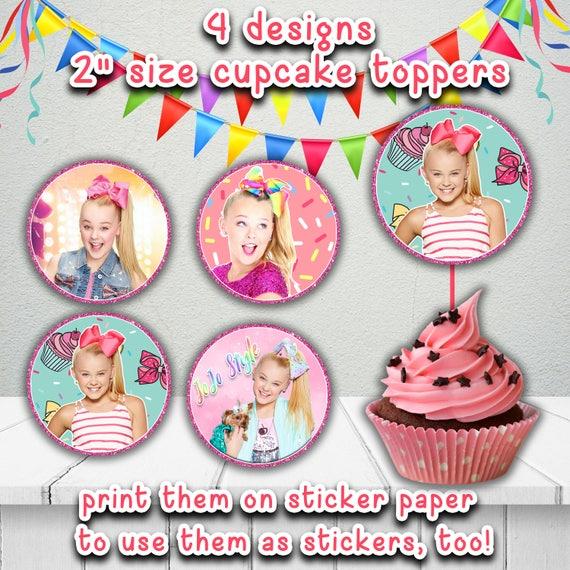 Jojo Siwa Cupcake Toppersjojo Siwa Style Printable
