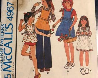 Vintage Apron/ Jumper Pattern 4967