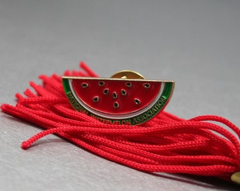Red Watermelon Pin, National Watermelon Association, Red and Green Pin Summer Fruit Pin, Watermelon Brooch, Vintage Pin, Watermelon Birthday