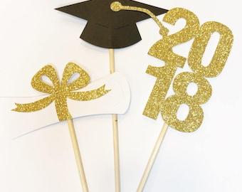 Graduation Centerpiece, Graduation Party Centerpiece, Graduation Party, 2018 Graduation, Graduation Party Decor, 2018 centerpiece, grad 2018