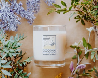 CANDLE scented from NATURAL SOY wax 180g