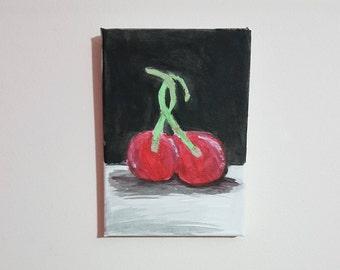 2 Little Cherry - Small Canvas