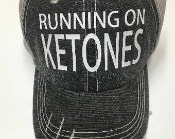 Running on Ketones Hat, Runners Hat, Fun Hat, Tucker Hat, Personalized Hat, Baseball Cap, Wooden That Be Fun