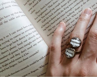Rhysand and Feyre Ring, ACOTAR Ring, A Court of Thorns and Roses, ACOMAF, A Court of Mist and Fury Ring, Sarah J Maas, Book Character Ring