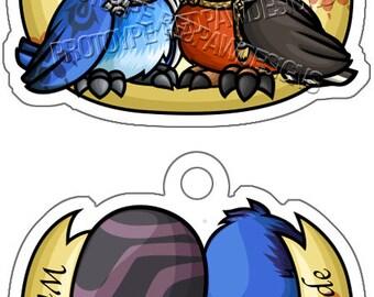 Chrobin Lovebirds Charm - PREORDER