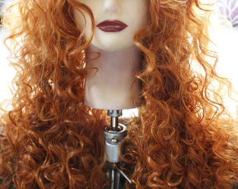 Merida Wig Princess Wig Cosplay Merida Princess Party Scottish Princess BRAVE wig