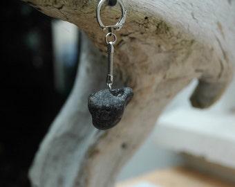Irish Beach Hag Stone Keychain