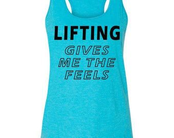 Lifting Gives Me The Feels Women's Tank Top, CrossFit Fitness HH6 Mom Gym Fitness