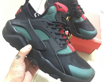 all black huaraches size 8
