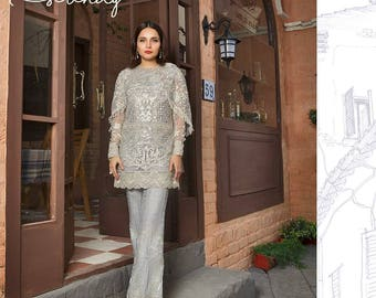 Suffuse By Sana Yasir (Serenity) Finest Luxury Collection 2017 For Partywear, Wedding Pakistani Indian Shalwar Kameez - Made to Order