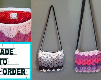 MADE TO ORDER -Choose your Color - Crocodile/Dragon Stitch Crochet Purse